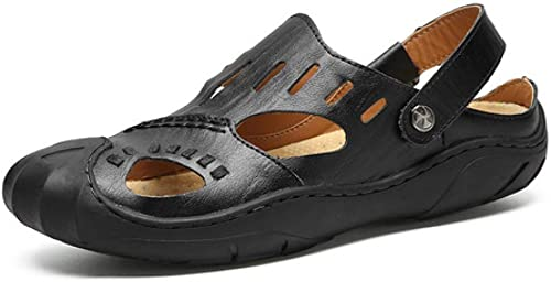 TD L9803 Sandales Hommes Sandales Chaussures de Plage Sandales d'extérieur (Couleur   Noir, Taille   EU41 UK7.5-8 CN42)