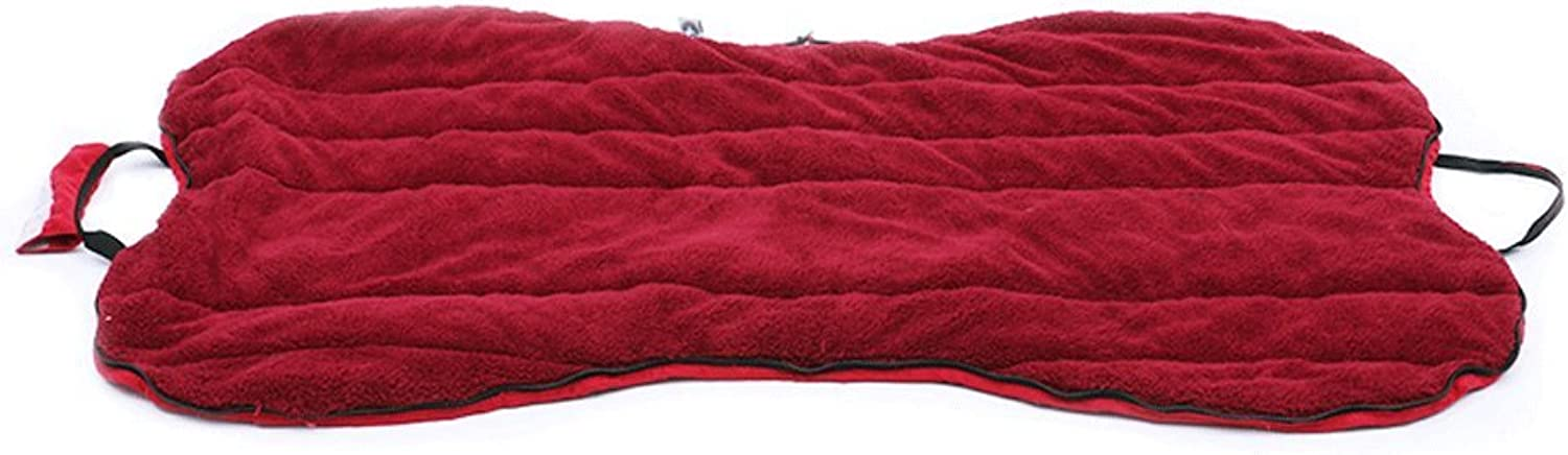 Huangyingui Ashable Plush Dog Bed With Removable Cover, Cuddly Dog Sofa,Red And bluee (color   Red)
