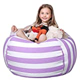 WEKAPO Stuffed Animal Storage Bean Bag Chair Cover for Kids...