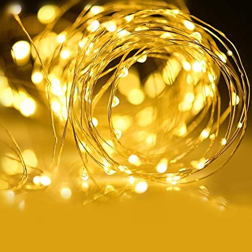 OUPPENG Solar Jardín Luz LED Hada Gypsophila Árbol Cascada Carámbano LED Holiday Fiesta de Navidad Guirnalda Guirnalda Impermeable Lámpara solar (Emitting Color : Warm White)
