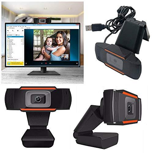 FFFF A871 - Webcam USB 2.0 12 MP HD, con microfono, per PC, Skype