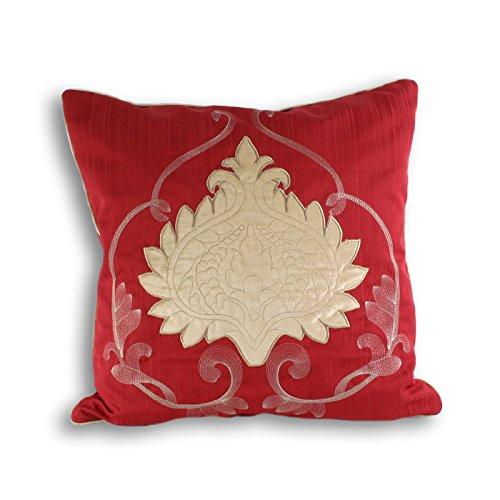 Riva Paoletti 'Windermere' Cushion Covers, Claret, 45 x 45...
