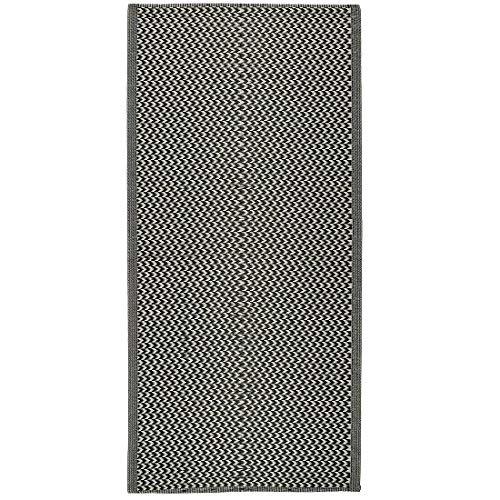 Ib Laursen Teppich Muster Recycelter Kunststoff 180x90 cm Outdoor Teppich Schwarz