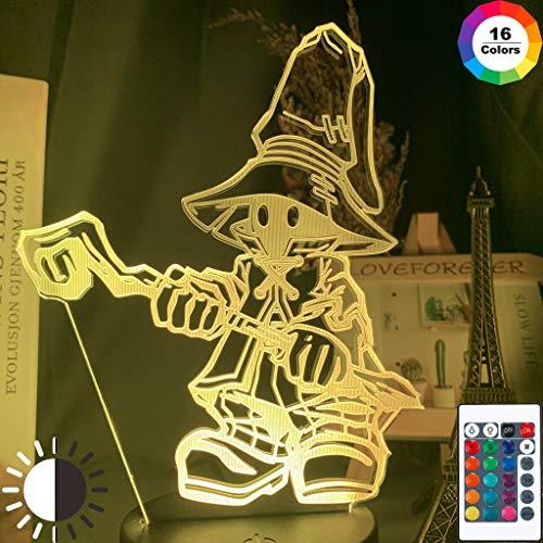 Final Fantasy Vivi Ornitier Figur Coole Nachtlicht 3D LED Tischlampe Kinder Geburtstagsgeschenk Nachtzimmer Dekoration