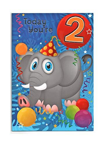 Biglietto Di Auguri Di Compleanno Per Bambini Di Due (2) Anni – Free 1St Class UK Post