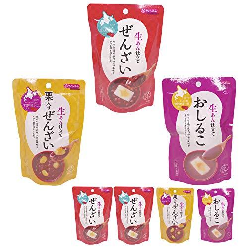 ぜんざい おしるこ 3袋 6種から選べる 4パック セット レトルト お汁粉 あんこ 和 スイーツ 国産 送料無料 ポイント消化 ダイエット (ぜんざい4袋)
