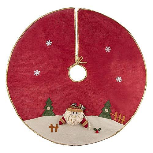 GAKIN Weihnachtsbaum-Rock aus Plüsch, Weihnachtsmann, Schneeflocken, für den Innenbereich, 1 Stück