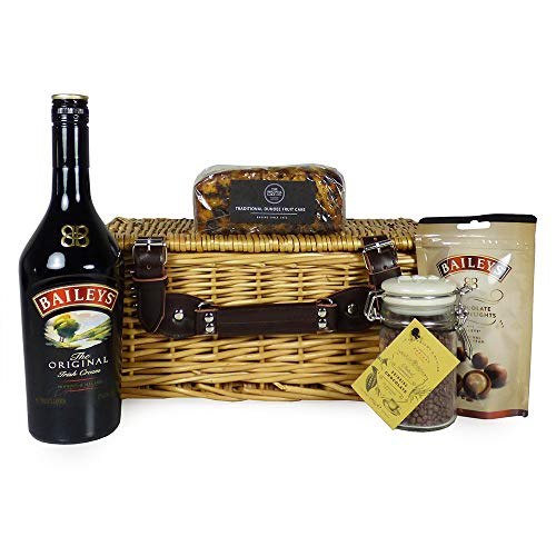 Baileys Indulgence Food Hamper - Gourmet Food Items presented in a Traditional Wicker Basket - Gift ideas for Valentines, Mothers Day, Birthday, Her, Thank You, Corporate, Christmas