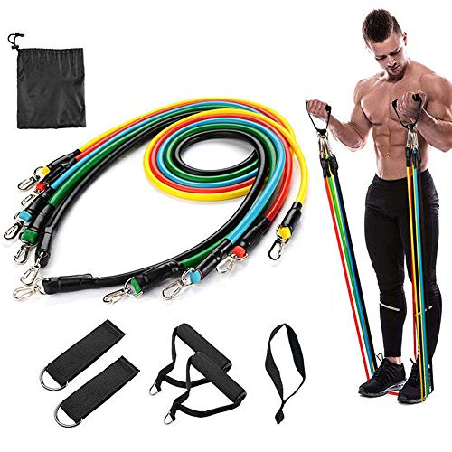 Yougoo Resistance Bands Set, Exercise Bands with Door Anchor, Handles, Waterproof Carry Bag, Legs Ankle Straps for Resistance Training, Physical Therapy, Home Workouts
