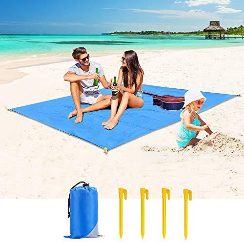 Cocoda Alfombras de Playa Libre de Arena, 200x180cm Manta Pi