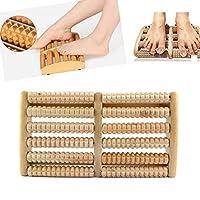 1 PC Dual Foot Massager Roller Relieve Plantar Heel Foot Pain Stress Acupressure Reflexology Tool Foot Massage Relax Free shipping
