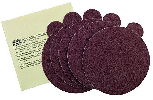 Proxxon 28160 Selbstklebende Edelkorund-Schleifscheiben für TG 125/E Korn 80, 5 Stück