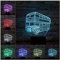 3Dイリュージョンナイトライト 消防車 スマートタッチ 子供のためのランプ3Dナイトライト-スマートタッチとUSBケーブル付き7色ナイトライト恋人クリスマスギフト女性のための十代の女の子の家の装飾