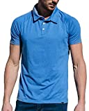 Barbell Apparel Men's Havok Polo Short Sleeve Shirt Blue Discontinued 2018 Blue Size Small