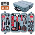 Hi-Spec Home & Garage Multi Tool Kit Set. Practical Hand Tools for DIY Repair & Maintenance in The Home, Garage and Workshop. All in a Swing-Door Carry Case