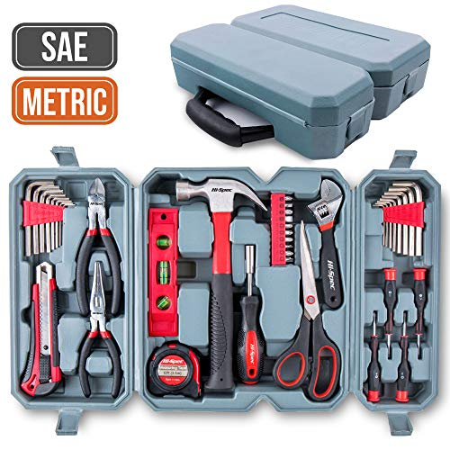 Hi-Spec Car Tool Kit, DT30016M, Auto Mechanics 3/8', 4-19mm Metric Sockets Set, T-Bar, Extension...