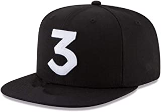 Popular Chance The Rapper 3 Hat Cap Black Letter Embroidery Baseball Cap Hip Hop Streetwear Snapback Sun Hat