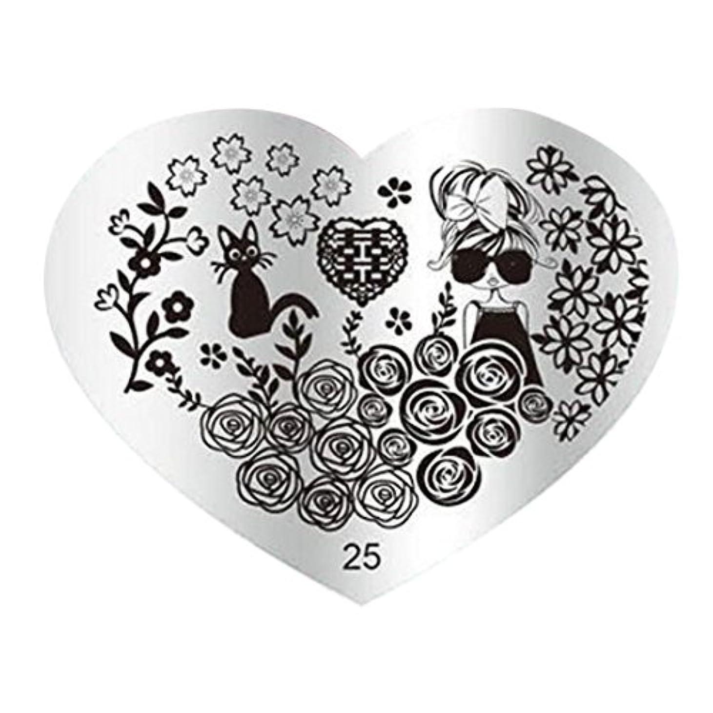 区スクラップアッパーSODIAL DIYネイルアート画像スタンププレート マニキュアテンプレートパンチング(25#)