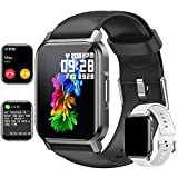 Smart Watch 1.72'' Full Touch Screen Fitness Tracker for Android/iOS Phone, Advanced Heart Rate/SpO2 Pedometer/Blood Pressure/Text/Sleep Monitor, IP67 Waterproof Smartwatch for Women Men (Black)