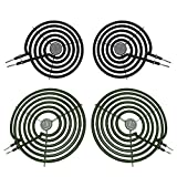 2 8-In WB30M2 and 2 6-In WB30M1 Range Stove Burner Top Surface Burner Element Set Replace By AMI PARTS Fits GE/Hotpoint
