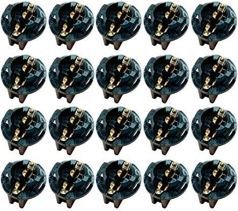 AUTUT 20 Pcs Light Bulb Twist Lock Socket W5W T10 168 194 Wedge Instrument Panel Dash Light product image