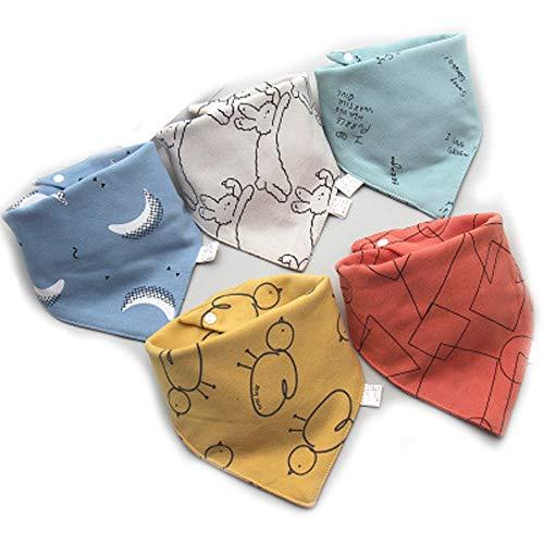 Genmoral Pañuelo triangular unisex para niños y niñas. Paquete de 5 11 L