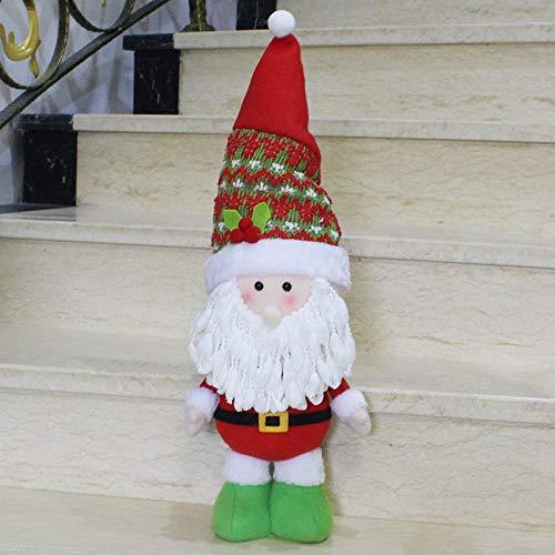 Kerstversiering Grote grootte Staande Stijl Kerstmis Home Decoratie Kerstman Pop LIJIANME