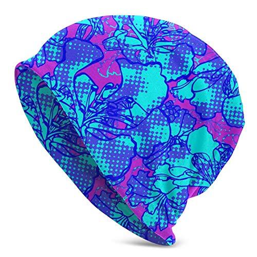 QUEMIN Bolsa Abstracto Colorido Geometría Floral Planta irreal Flores Gorra de Calavera Gorro elástico Gorros Holgados Tejido de Invierno Sombreros de Moda para Mujeres Hombres
