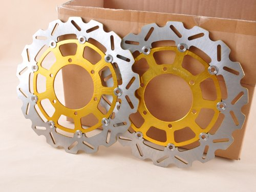 Wotefusi Disque de Frein Avant Couleur Dore pour Suzuki GSXR600 GSXR750 2008-2009 GSXR1000 2009-2011 2010