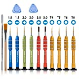 14 PCS Precision Screwdriver Set with Small Phillips, Flathead and Torx in Different Size - Magnetic Professional Repair Tool Kit for Eyeglass, Glasses, Electronics, Watch, Jewelers etc