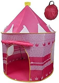 POCO DIVO Crown Princess Castle Girls Outdoor Tent Pink Indoor Play House