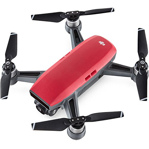 DJI Spark Fly More Drone Combo (Lava Red) with Custom Hard Case, 64GB High Speed Card, Corel Paint Version 9, High Visibility Pro Guards, Cleaning Cloth, and One Year Warranty Extension