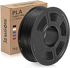 Carbon Fiber PLA Filament, 1.75mm 3D Printer Filament, Upgrade PLA Carbon Fiber 3D Printing Filament 1KG Spool, 0.02mm, Black