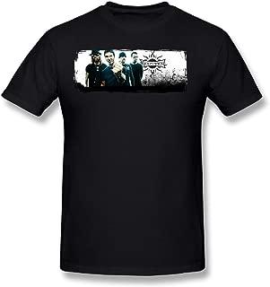Cotton Youth Man Fashion T Shirt Shirts Short Sleeves Godsmack Band Black
