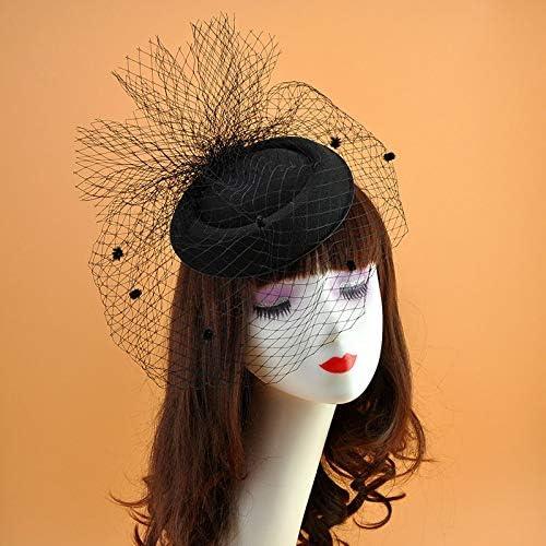 Outlet sale feature Wedding Bridal Challenge the lowest price of Japan Hats Fascinators Headpiece Party Black Hat Bridca