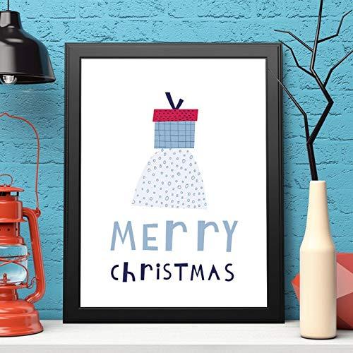 SDFSD Cartoon einfache Weihnachtsbaum Kiefer Dekorationen für Home Tree Wandkunst Poster Leinwand Malerei Hintergrund Moderne Bilder Schlafzimmer 40 * 50cm