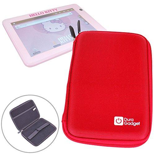 DURAGADGET Funda Rígida Rojo para La Tablet De Niños Ingo Hello Kitty Guardar La Tableta De Sus Hijos!