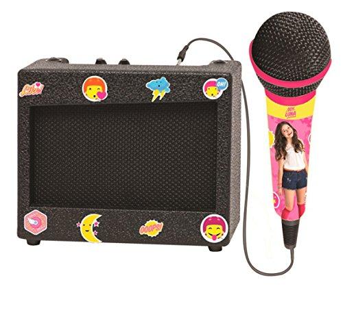 Lexibook Altavoz Karaoke Portátil con Micrófono, diseño femenino, toma de reproductor multimedia,...
