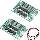 Youmile 2Pack PCB Protection Board 40A 3S Li-ion Lithium Battery Charger PCB BMS Protection Board with Balance Charging For 40A Current Drill Motor 11.1V 12V 12.6V