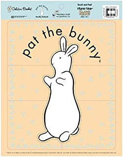 Frame Tray Pat The Bunny Touch and Feel Jigsaw Puzzle