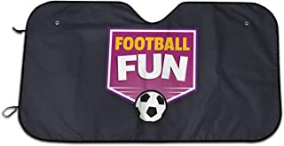 INTFULIHU Football Academy Auto Windshield Visor 51.2 X 27.5 Inches Cover Keep Vehicle Cool