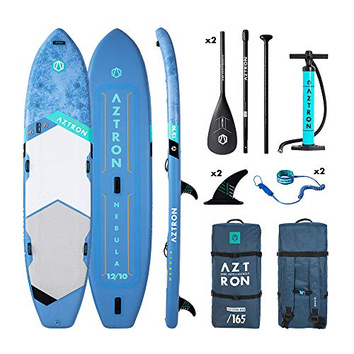 AZTRON Nebula 2+1 Person 12'10 Inflatable SUP Stand up Paddle Board 390x87x15cm