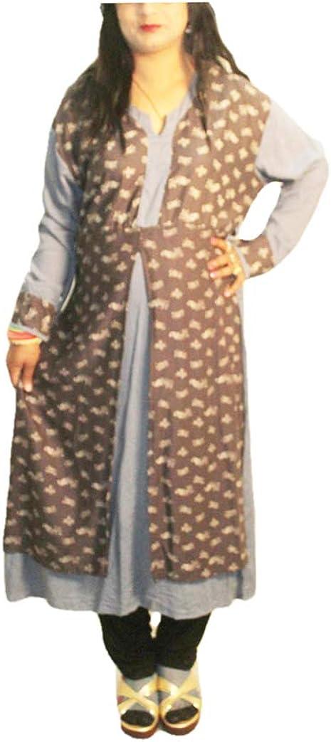 Lakkar Haveli Indian Viscose Women's Long Dress Frock Suit Girl's Casual Top Tunic Kurtis Dress Ethnic Maxi Gown Plus Size