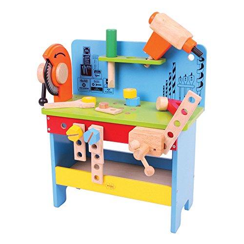 Bigjigs Toys Établi à Outils électriques en Bois