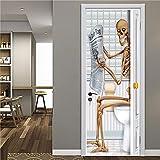 DFKJ Schädel Halloween Dekoration Tür Aufkleber 3D