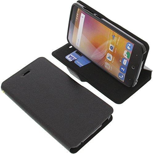 foto-kontor Tasche für ZTE Blade A610 Book Style schwarz Schutz Hülle Buch