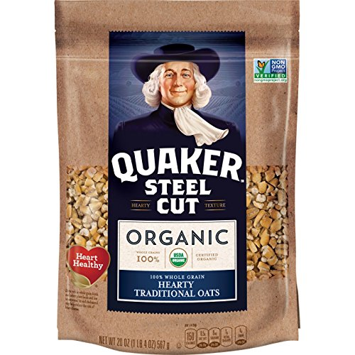 4-Pack 20oz Quaker Organic Steel Cut Oats  $8.27 at Amazon