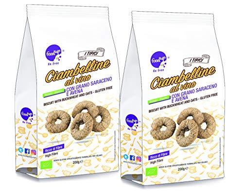 2 confezioni di CIAMBELLINE AL VINO con grano saraceno e avena 200g (Senza glutine) - FOODUP
