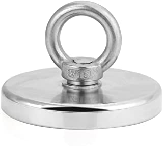 HHOOMY Magnets Fishing 1000LBS Pulling Force (453Kg) Powerful Round Neodymium Magnet, 4.72