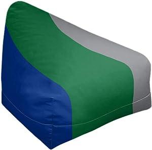 ArtVerse NFS Seattle Throwback Football Stripes Bean Bag Cover w/Inner Shell (No Fill), 27 x 30 x 25, Green Accent